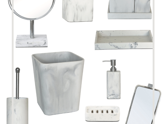 Better Homes & Gardens Marble Finish Bath Accessories