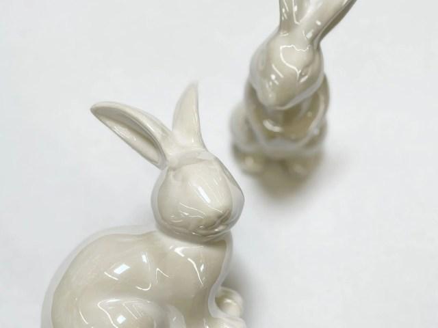 Way to Celebrate Ceramic Bunnies