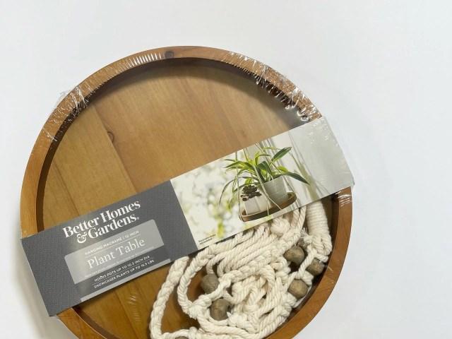 Better Homes & Gardens Hanging Macrame Plant Table