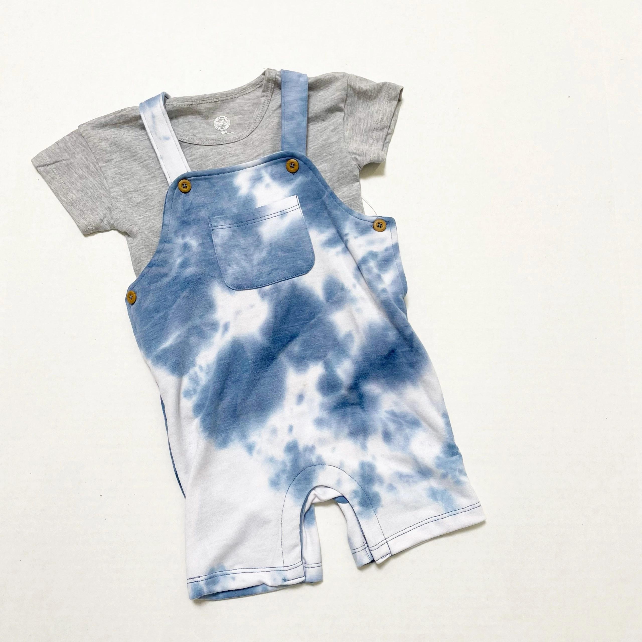 Wonder Nation Baby Boy Shortall Outfit Set