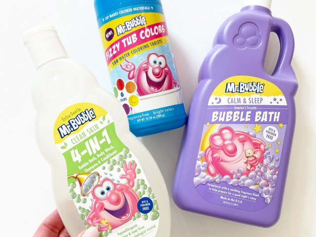 Mr. Bubble Extra Gentle 3-in-1 Wash, Calm & Sleep Bubble Bath and Fizzy Tub Colors
