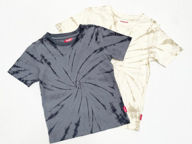 Wrangler Boys Fashion Short Sleeve Tie Dye T-Shirt