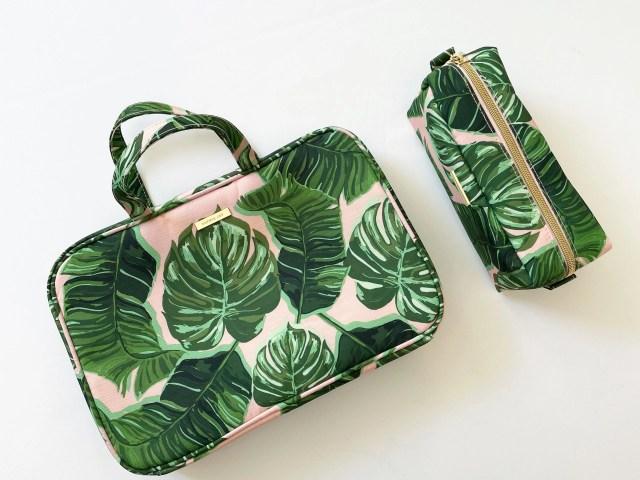 Sophia Joy Palm Print Weekender Cosmetic Bag