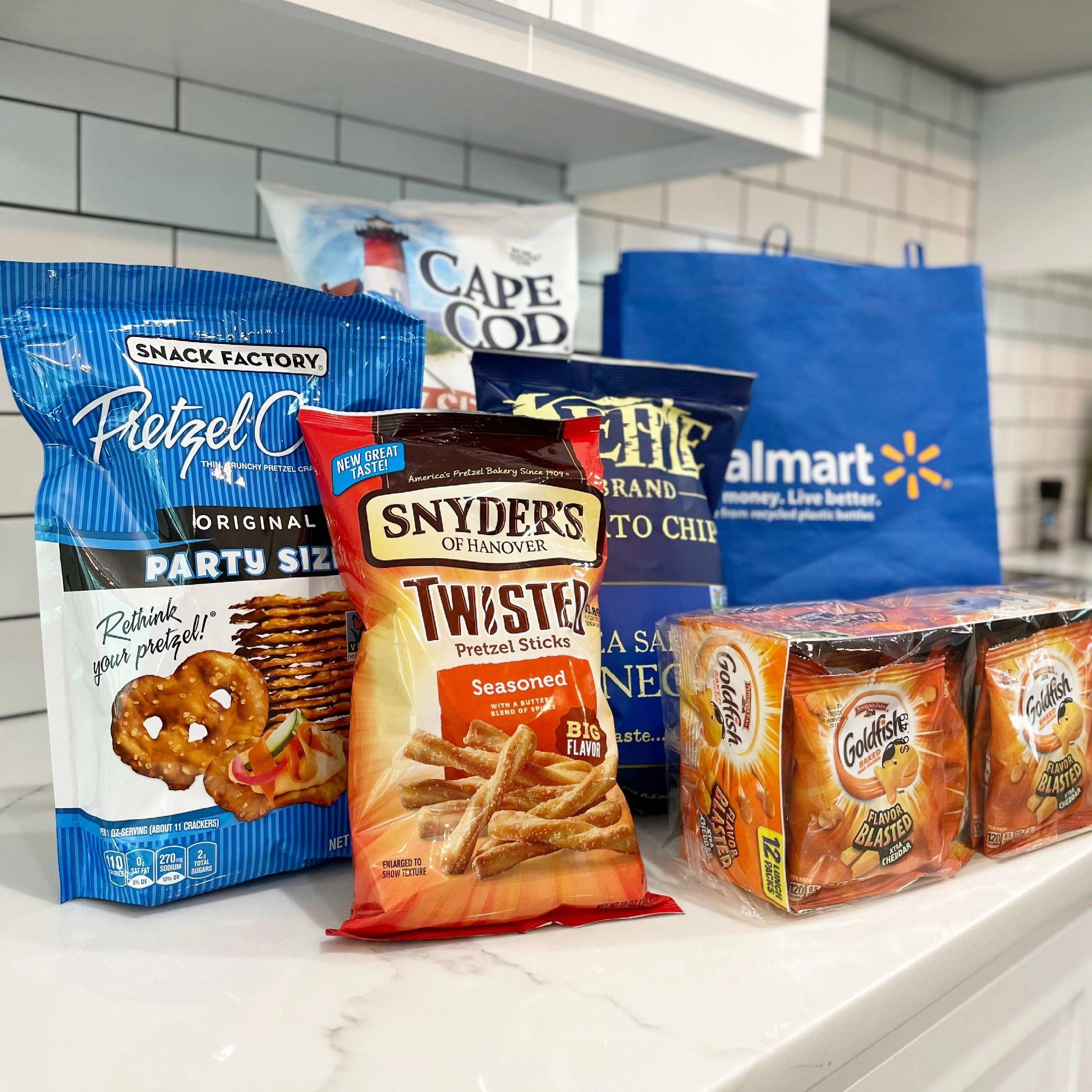 Summer Snacking Favorites - Goldfish, Snyder's Twisted Pretzel Sticks, Kettle Brand Chips and More
