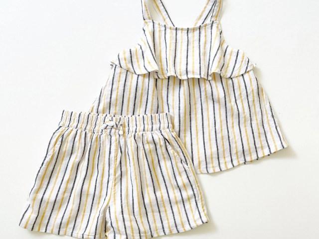C.Wonder Girls Flowy Ruffle Tank Top and Matching Shorts