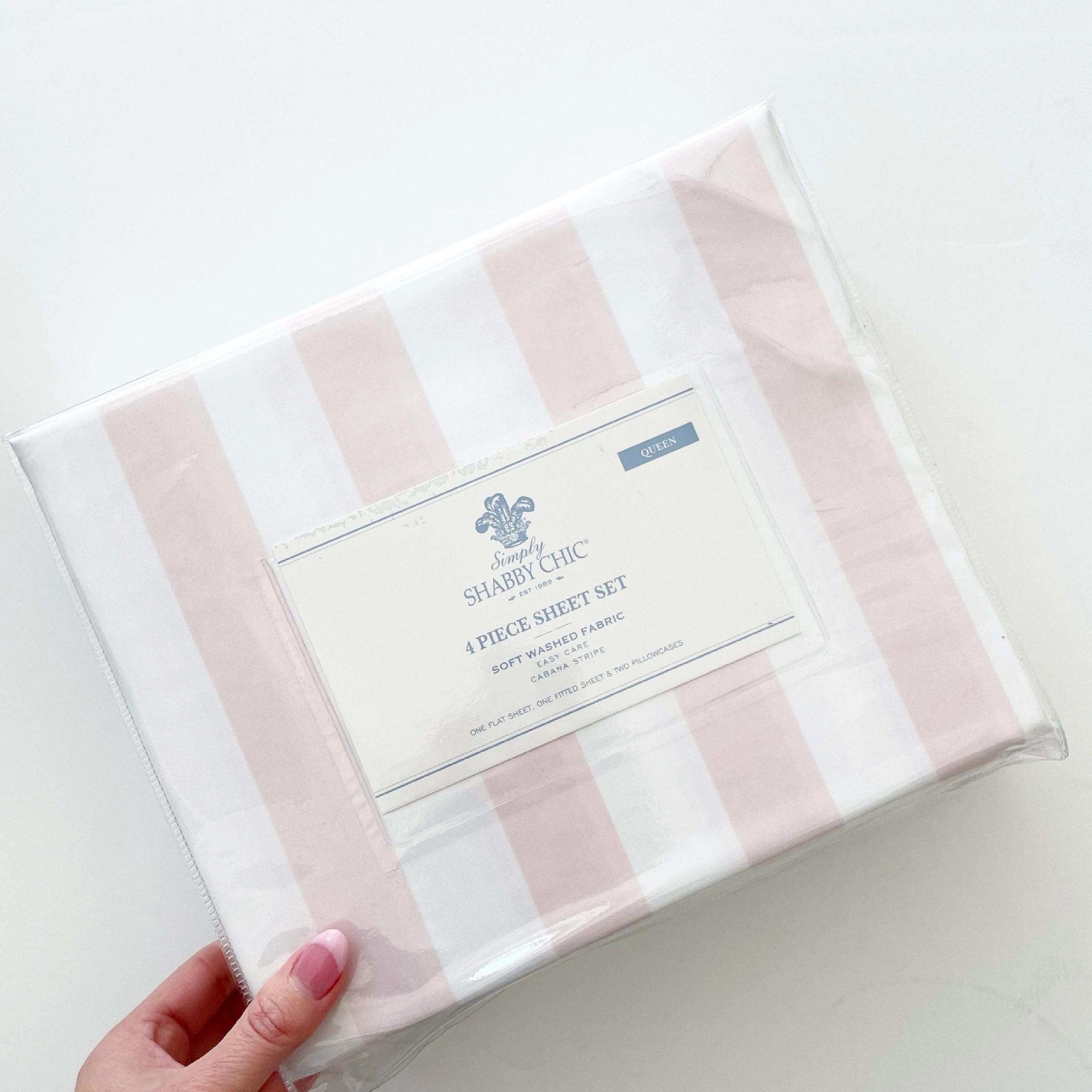 Simply Shabby Chic Pink Cabana Stripe Sheet set