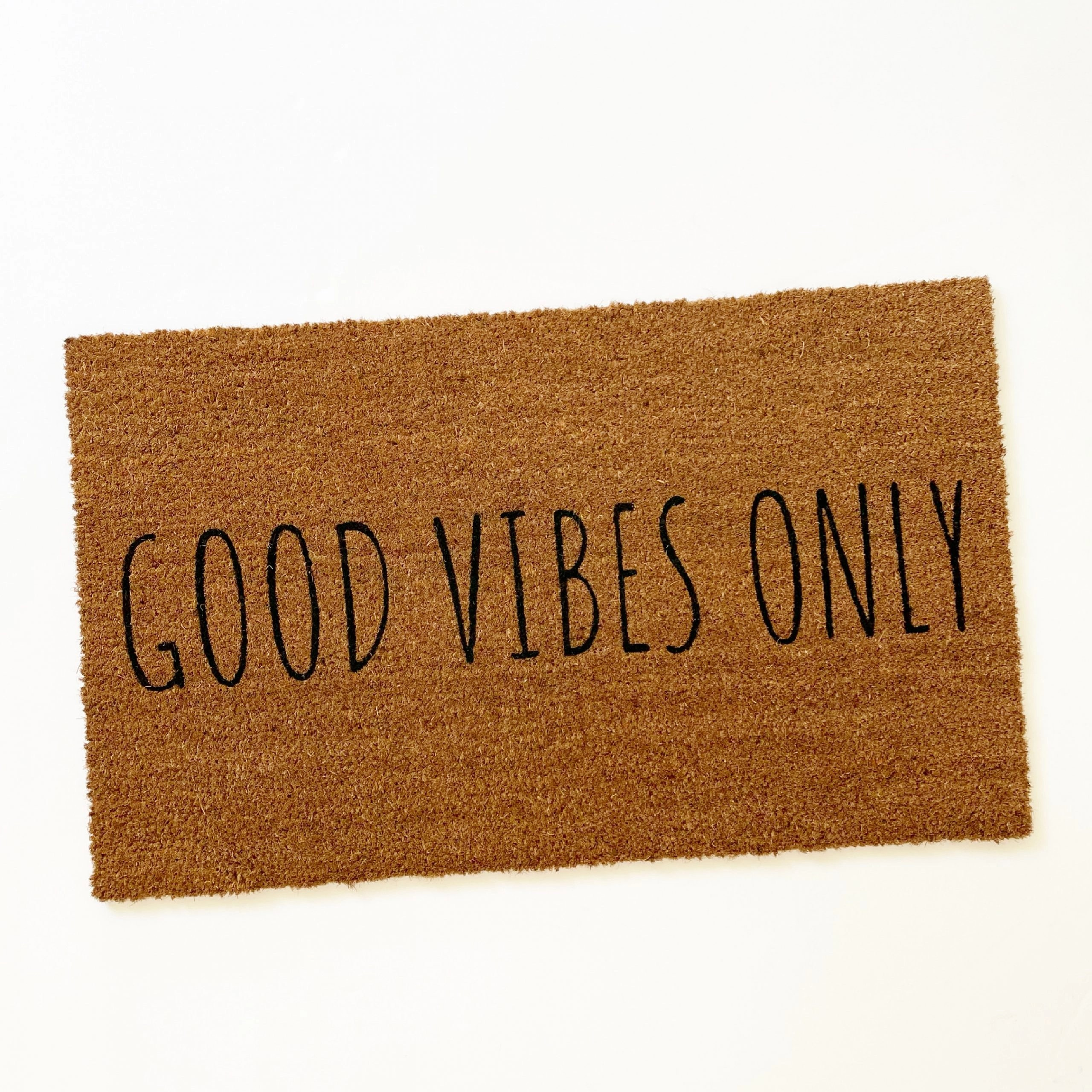 Mainstays good vibes only coir doormat