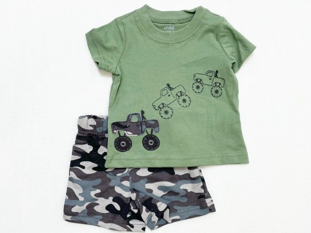 Child of Mine by Carter's Baby Boys' Camo and Monster Truck Outfit