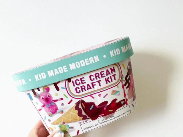 Kid Made Modern Ice Cream Craft Kit