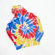 Wonder Nation Boys Warm Tie Dye Long Sleeve Fleece Hoodie