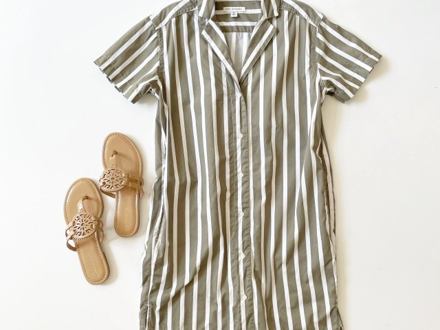 Free Assembly Camp Shirtdress and Circus by Sam Edelman Thong Sandal