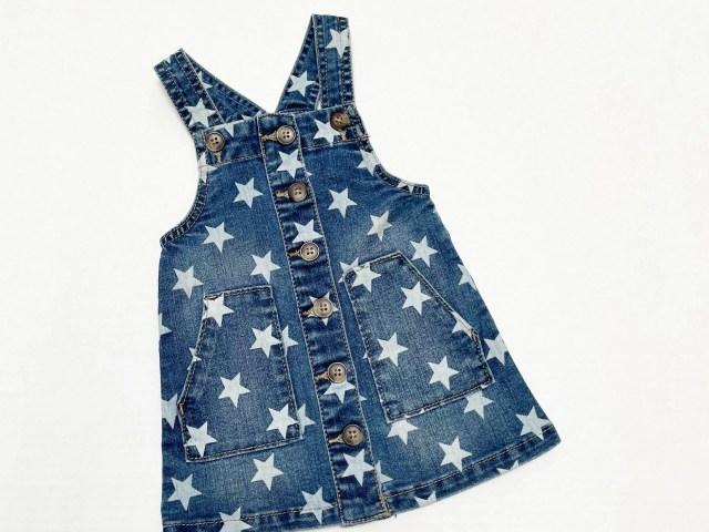 Wonder Nation Baby & Toddler Girl Jumper Dress, 12 Months-5T
