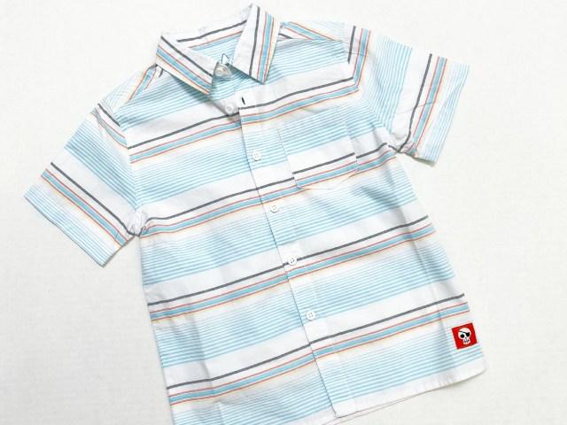 365 Kids From Garanimals Little Boys Striped Short Sleeve Shirt