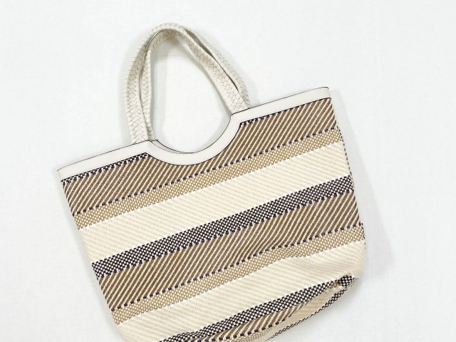 Time and Tru Extra Large Woven Straw Beach Travel Tote Bag