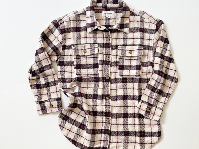 Free Assembly Girls Oversized Flannel Jacket