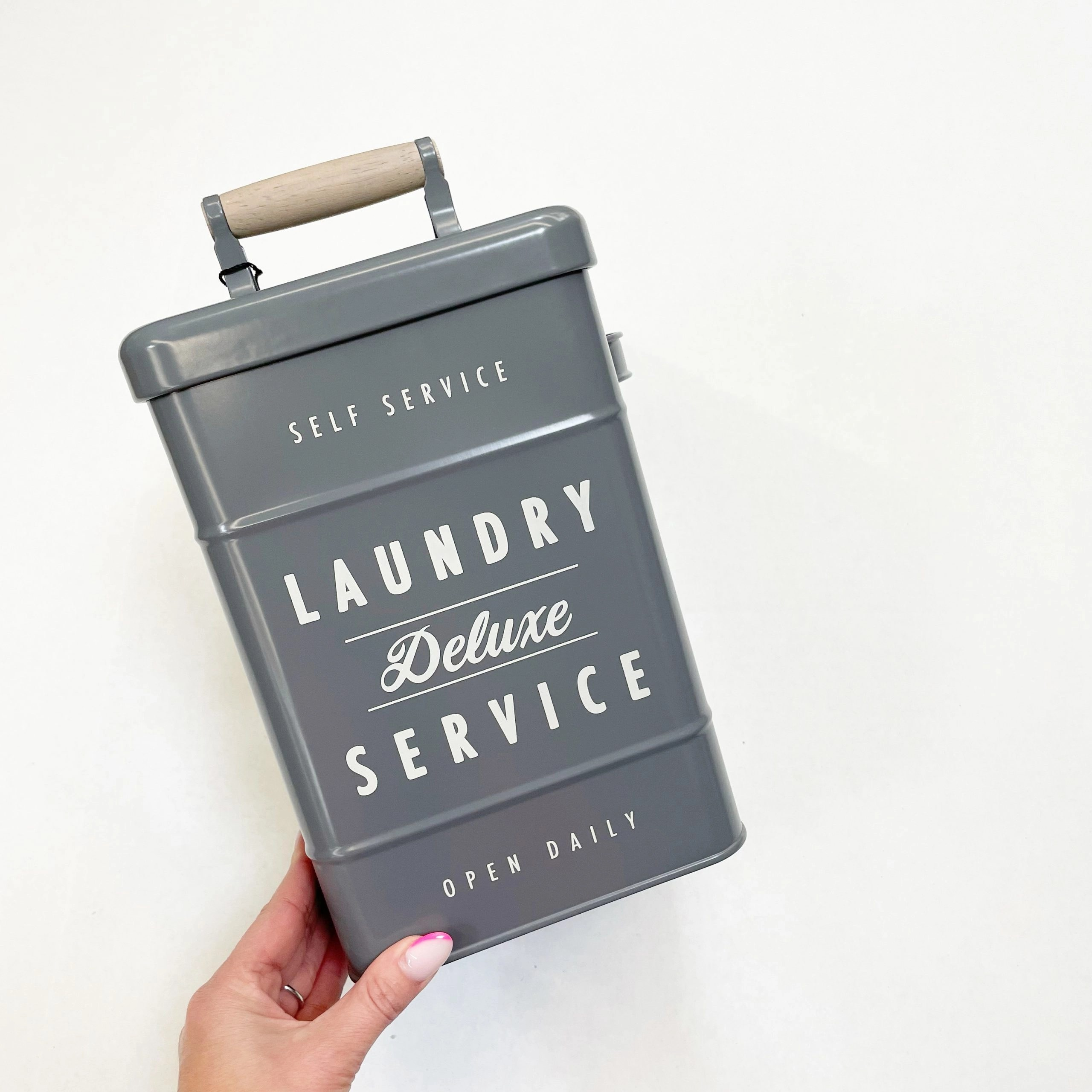 Better Homes and Gardens Gray Metal Laundry Caddy and Detergent Holder