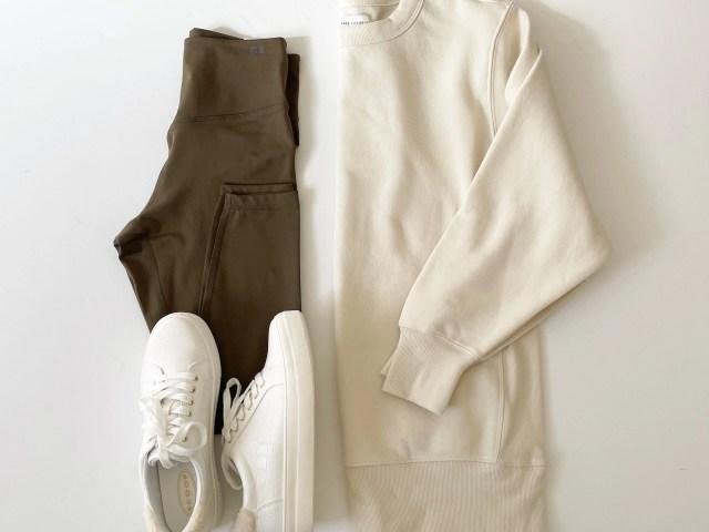 Free Assembly Tunic Fleece Sweatshirt and 7/8 Leggings