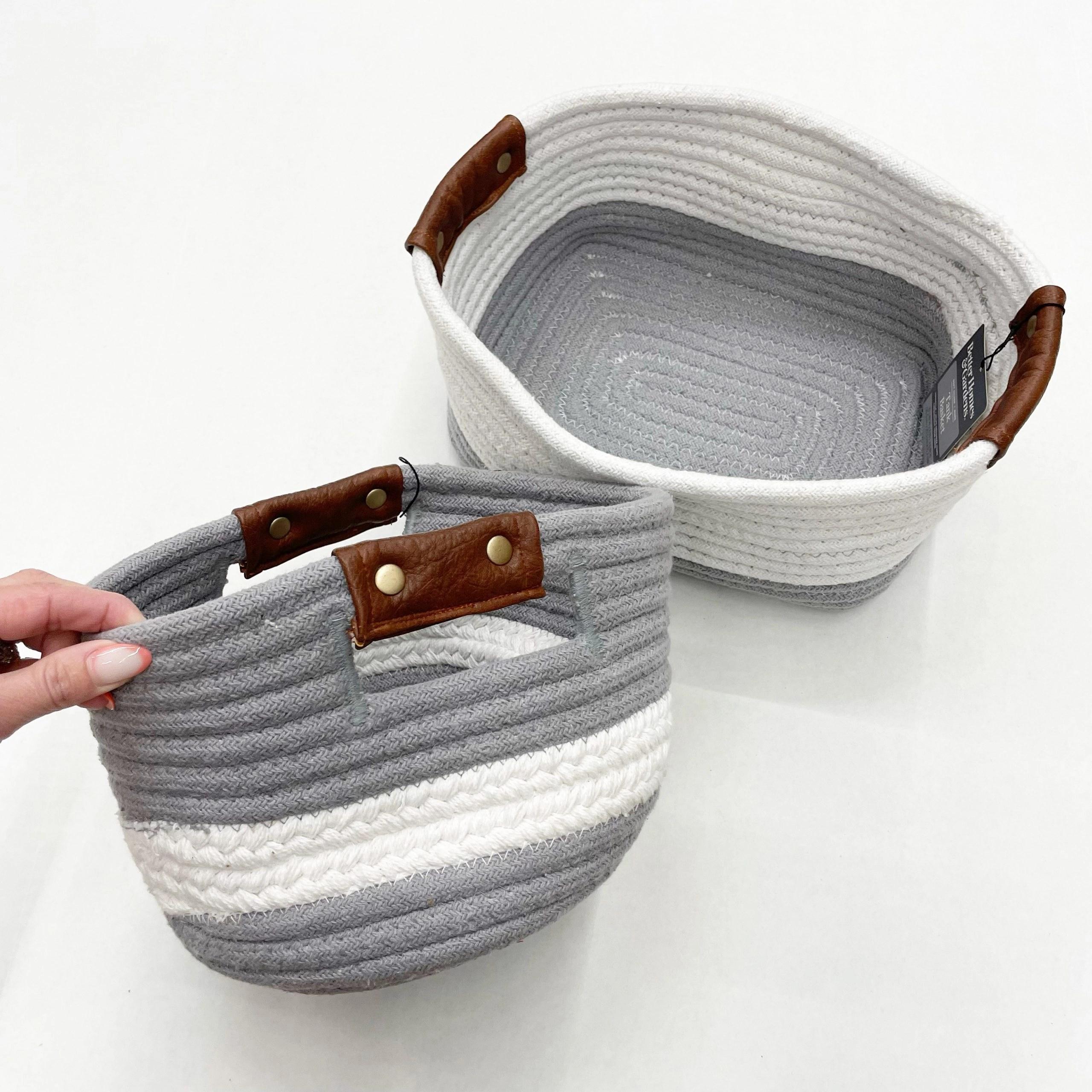 Better Homes & Gardens Cotton Rope Braided Storage Baskets