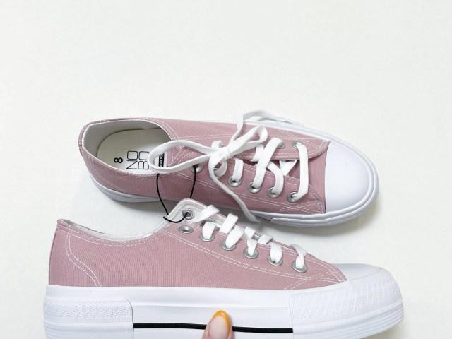 No Boundaries Women's Canvas Platform Sneaker