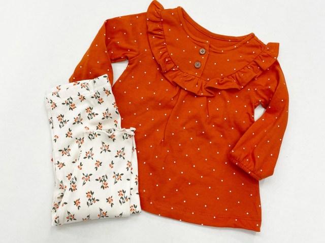 Child of Mine by Carter's Baby Girls Long Sleeve Orange Set