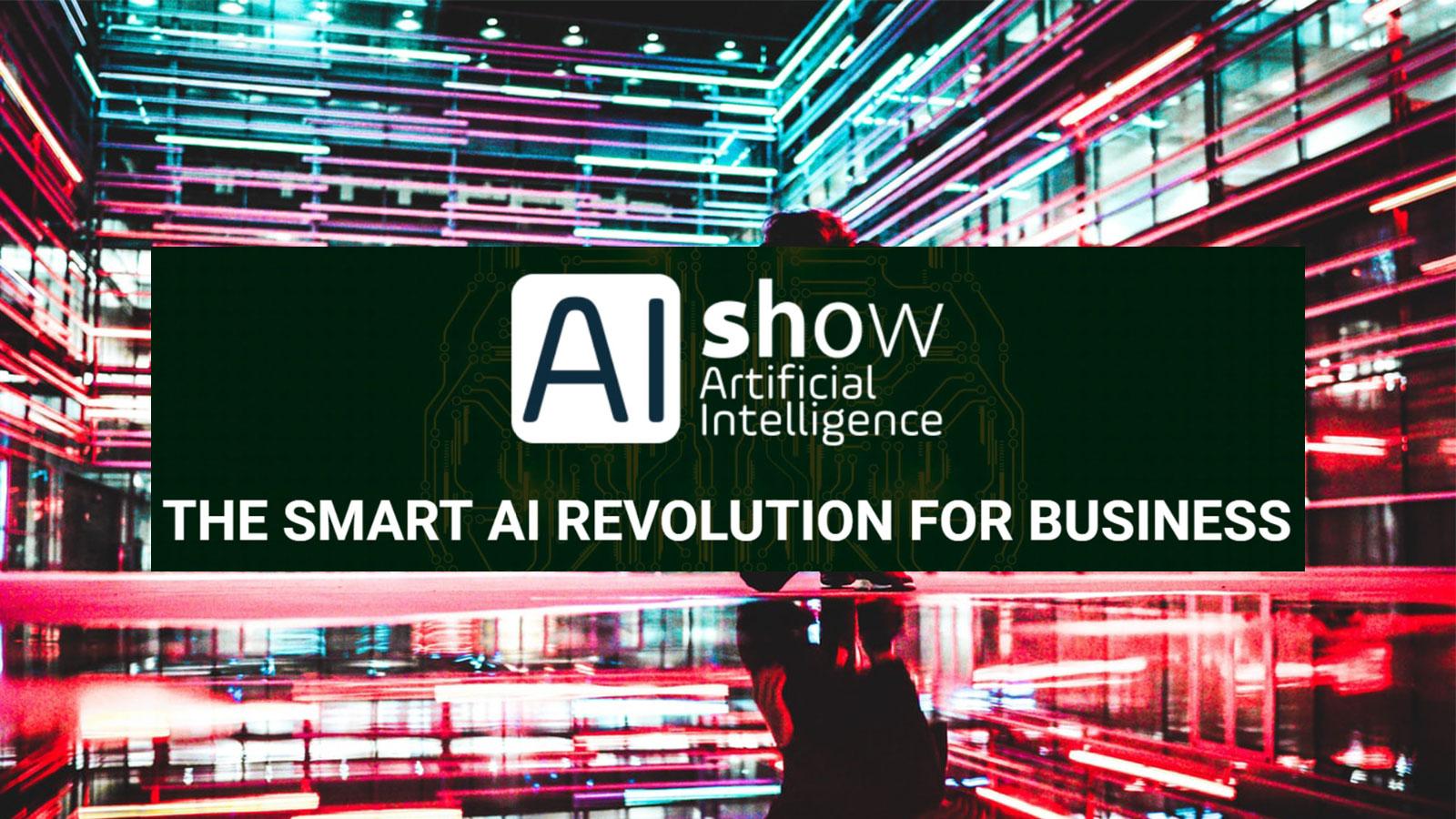 Inteligencia Artificial con banner evento AIshow