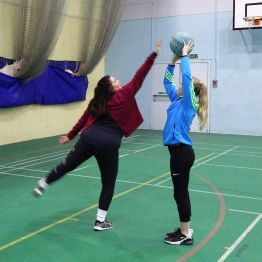 First Netball Session Shooting Practice