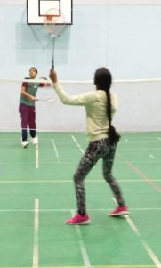 Two Badminton Players