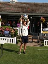 Jon Newis with the cup