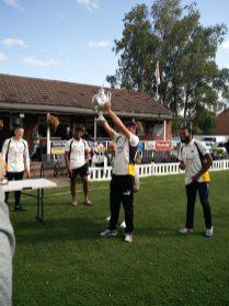 Fahim Jan lifts the trophy