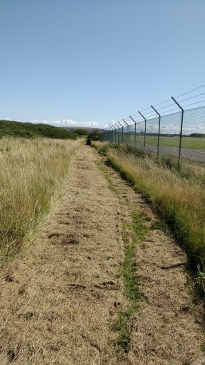 Coastal path along airfield fence cleared August 2019 (2) - Copy