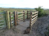 P1020608 New Gate entrance to field part of Coastal Path Sept 2019 - Copy