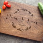 Personalized Engraved Cutting Board Custom Wedding Anniversary Engagement Real Estate Closing Gift 46 Walnut Artisan Gallery