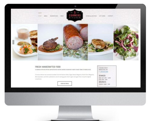 5 Corners Kitchen Restaurant Website