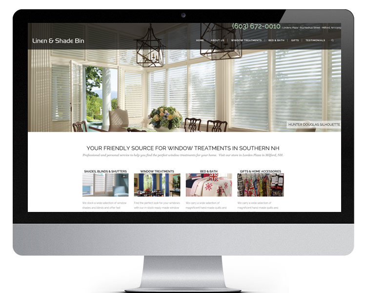 Linen and Shade Bin Website