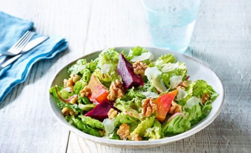 Romaine Salad with Walnuts and Beets