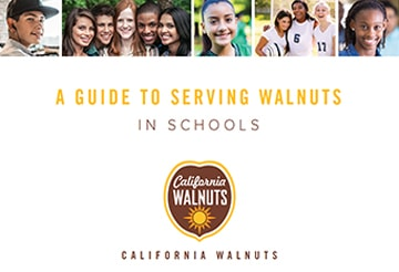 guide to serving walnuts in schools