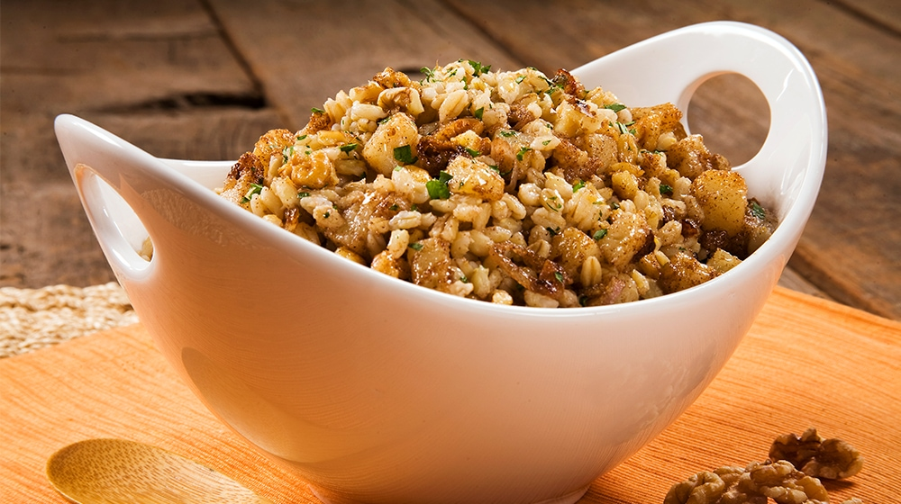 Barley Pilaf With Walnuts and Pears
