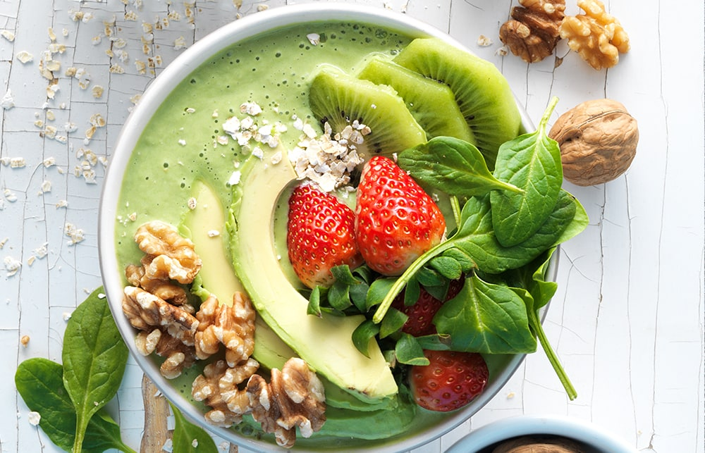 Walnut Avocado Smoothie Bowl