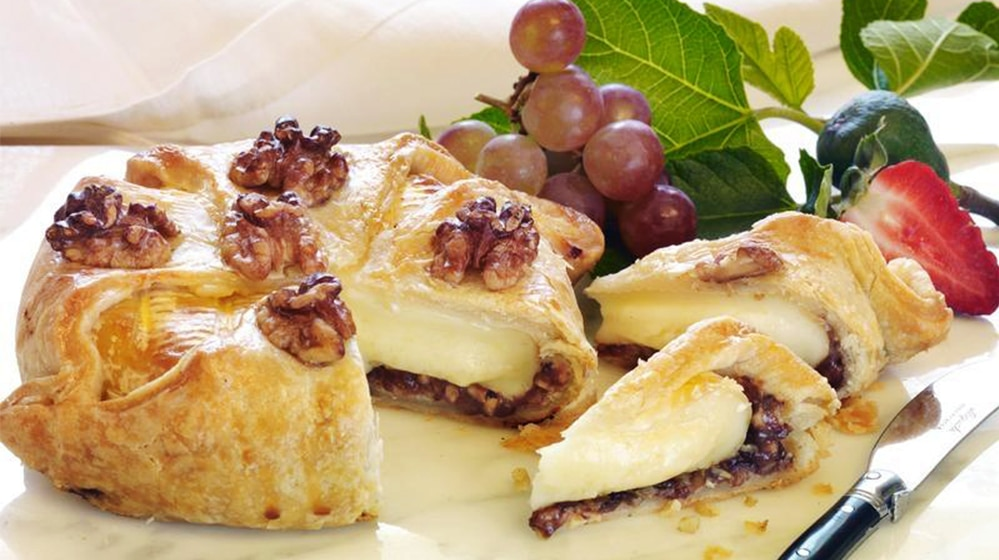 Walnut Fig Brie in Croute