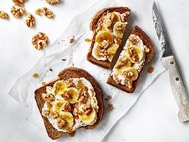 Ricotta Banana Walnut Toast
