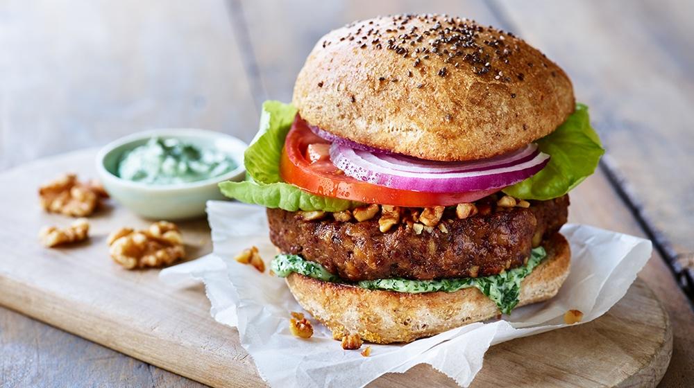 Walnut Omega Burger Plant-Based Eating
