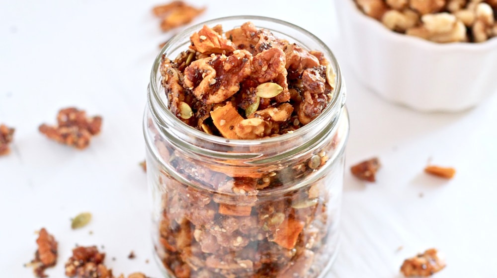 Walnut Mango Granola Topper