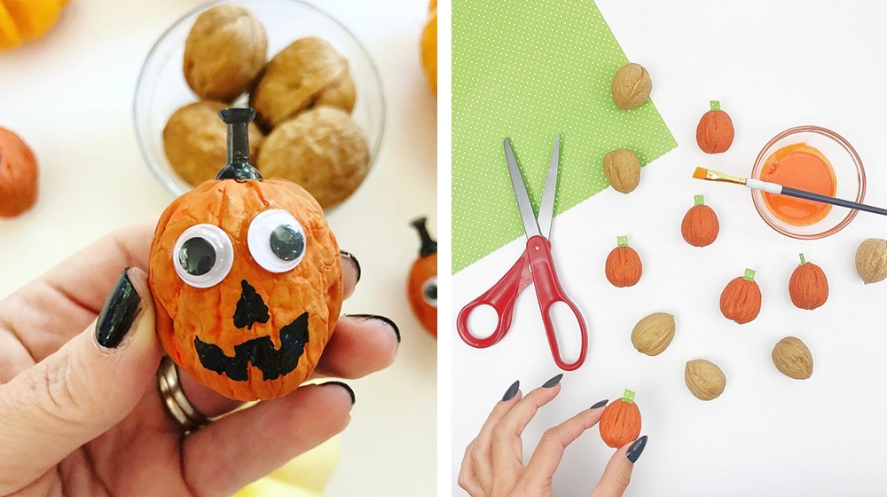 Halloween Walnut Crafts