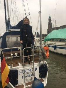 Denise Wenger an Bord der Fuchur in Bremerhaven März 2017
