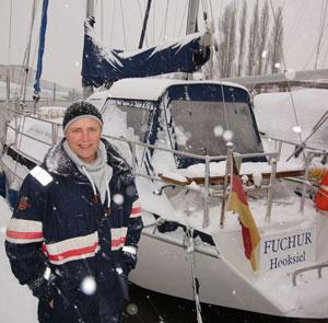 Holger Peterson Winterliegeplatz der Fuchur in Bremen Jan. 2016