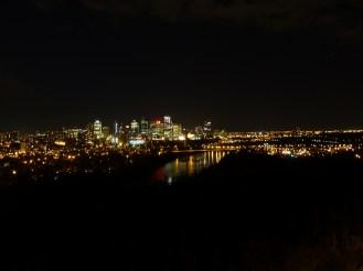 Edmonton at night.