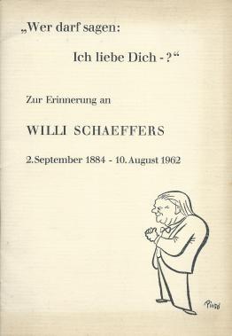 Zur Erinnerung an Willi Sschaeffers