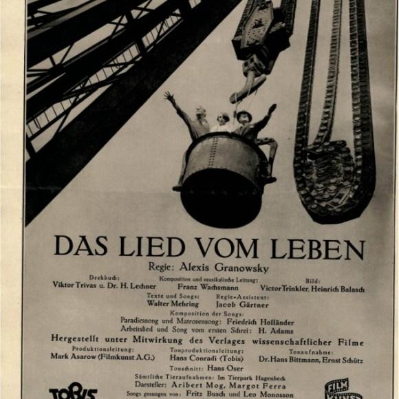 Das Lied vom Leben - Filmprogramm, S. 2