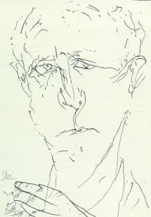 Hans Bender (1979), gezeichnet von Dieter Stein