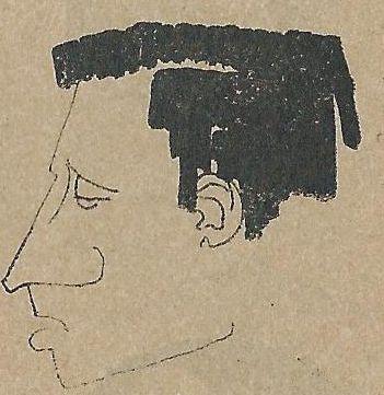 Zeichnung von Rolf Herschel für ein Programmheft der Leipziger Pfeffermühle